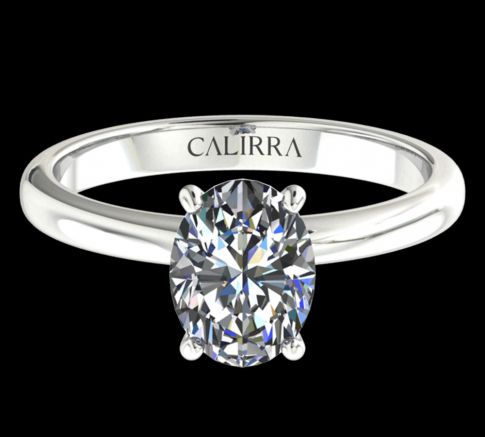 Solitaire simple Leona diamant Oval cut