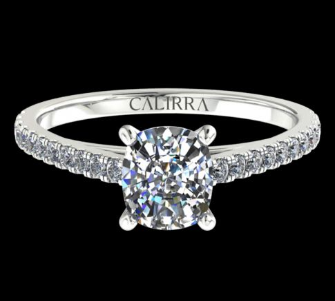 Solitaire Serti Eva diamant Cushion cut