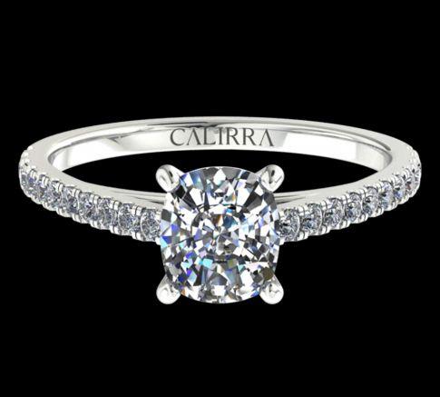 Solitaire Serti Eva diamant Cushion cut