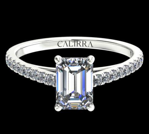 Solitaire Serti Eva diamant Emerald cut