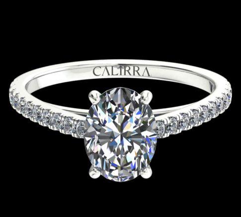 Solitaire Serti Eva diamant Oval cut