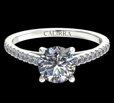 Solitaire Serti Eva diamant Round cut