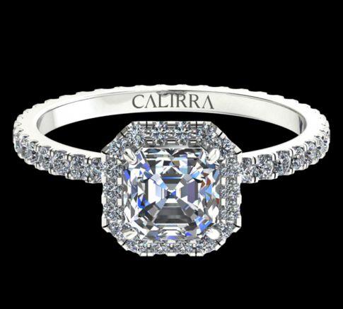 Solitaire Elyse Diamant Asscher cut