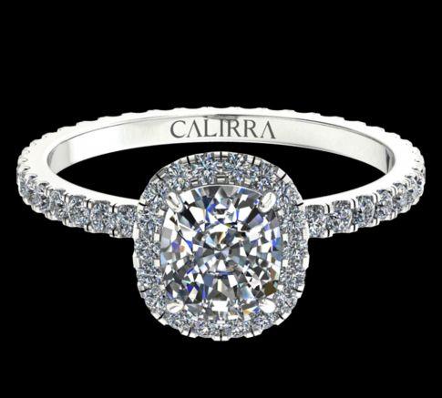 Solitaire Elyse Diamant Cushion cut