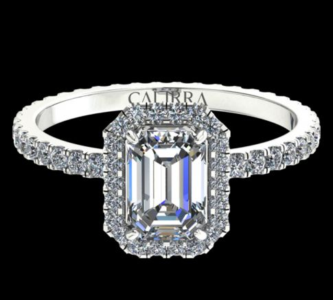 Solitaire Elyse Diamant Emerald cut