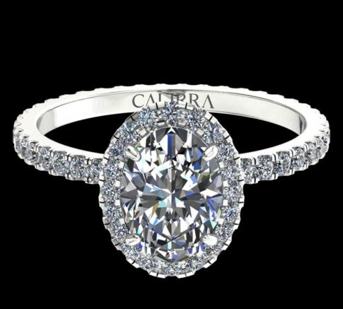 Solitaire Elyse diamant Oval cut